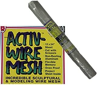 Activa 171 Activa Activ-Wire Mesh Incredible Sculptural Modeling Aluminum Mesh 12 in. x 10 ft. Sheet .25 in. x .13 in.
