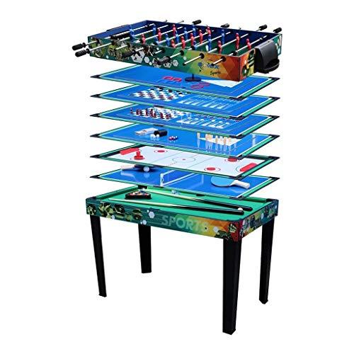 Solex Multi-Spieltisch 12-in-1, holz/bunt, 113 x 62 x 81,3 cm