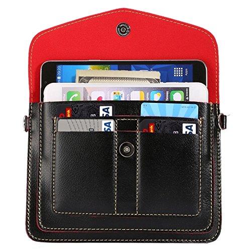 Accesorios para teléfonos móviles 6.3 pulgadas Universal Moda Vertical Cuatro capas Bolso de hombro multifunción con ranuras de tarjetas para iPhone 6 Plus y 6S Plus, Samsung Galaxy S7 Edge & Note 5 /