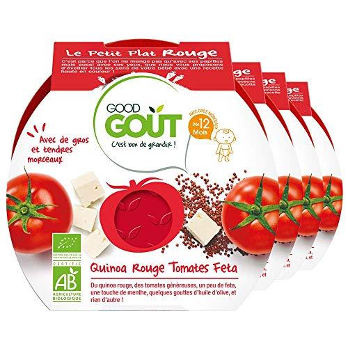 Good Goût - BIO - Quinoa Rouge Tomates Feta Repas Dès 12 Mois 220 g lot de 4