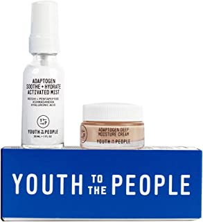 Youth To The People Activate Your Calm Kit - Travel Size Duo with Hydrating Hyaluronic Acid Spray Mist (1oz) with Reishi +...