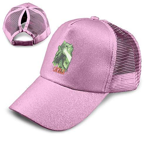 Cl4zyott Cat Zilla - Gorra de béisbol unisex, ajustable, color rosa
