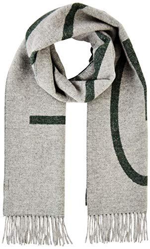 GANT Herren D1. LOGO WOOL SCARF Schal, Grün (Tartan Green 374), One Size (Herstellergröße: Oversize)