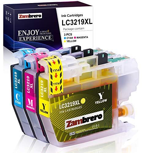 Zambrero LC3219XL Farbe Patronen Ersatz für Brother LC3219 LC3217 LC-3219 LC-3217 Druckerpatronen Kompatibel mit Brother MFC-J5330DW MFC-J5335DW MFC-J5730DW MFC-J6930DW MFC-J6935DW MFC-J6530DW J5930DW