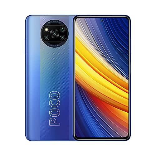 """POCO X3 Pro, Smartphone 8+256 GB, 6,67"""" 120 Hz FHD+ DotDisplay, Snapdragon 860, cámara cuádruple de 48 MP, 5160 mAh, Azul Escarcha (versión ES/PT), incluye auriculares"""