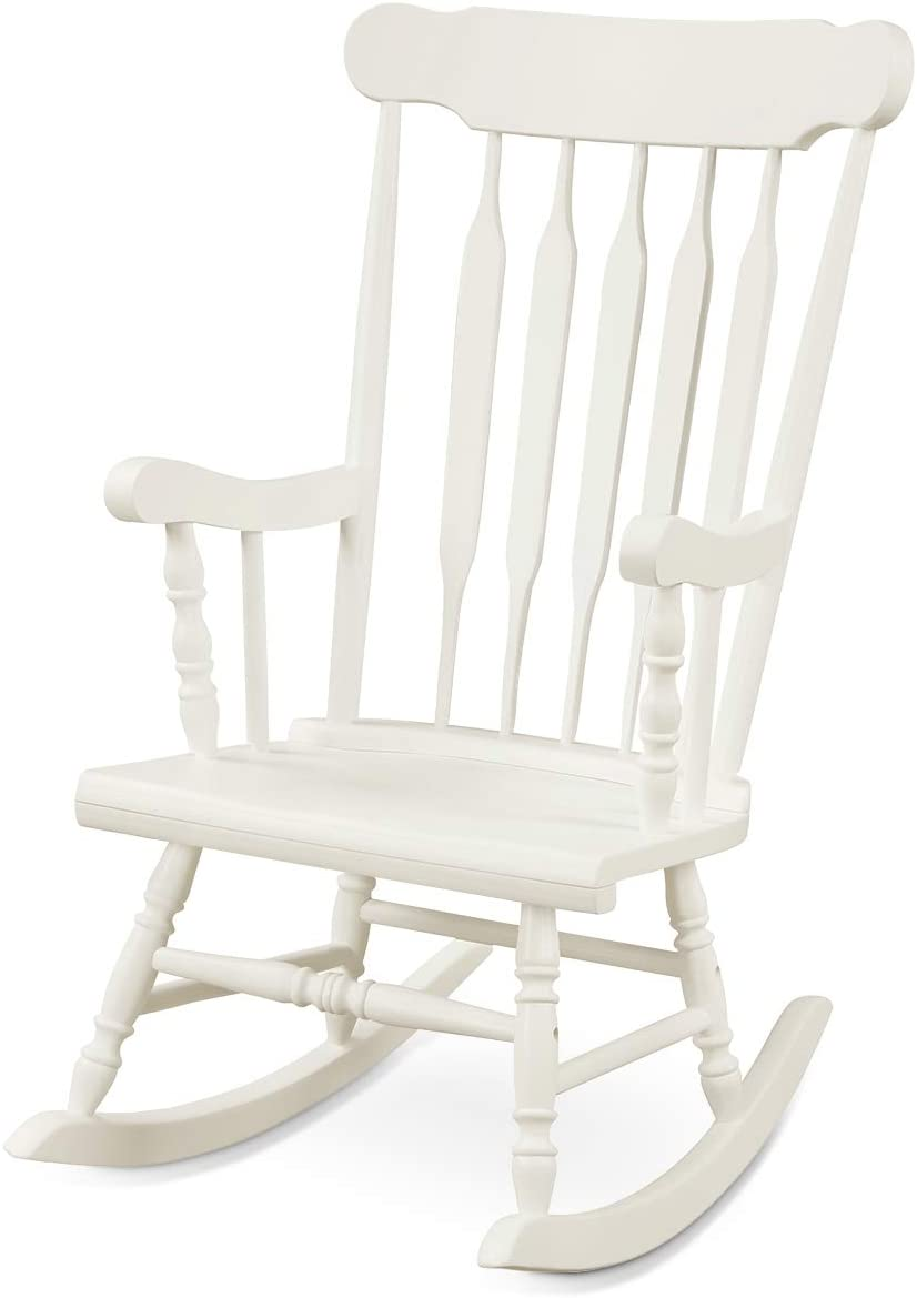 Giantex Rocking Some reservation Chair Solid Wooden Max 81% OFF Outdoor Rocker Frame Indoor