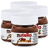 Ferrero Nutella Kleines Mini Design Glas 4er Set a 25g, Brotaufstrich, Nussnugatcreme, Schokoladen...