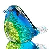 Hophen Kunst-Glasvogel-Figur, handgefertigt, geblasenes Glas, Papier, Muttertagsgeschenk, Heimdekoration (#3)