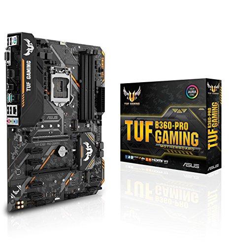 Asus Intel B360 ATX - Placa base gaming con Aura Sync RGB iluminación LED, DDR4 2666MHz , 32Gbps M.2, Intel Optane memory ready y USB 3.1 Gen 2.
