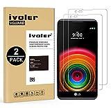 ivoler [Pack de 2] Verre Trempé pour LG X Power [Garantie à Vie], Film Protection en Verre trempé...