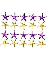 Vosarea 20 Piezas Estrella de Mar Decoración Mediterránea de Boda Adorno de Acuario Pecera para Proyecto de Manualidades Artesanía