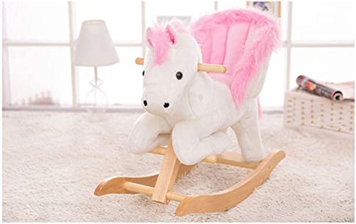 grandes precios de descuento QXMEI Silla Silla Silla De Mecedora para Niños De Trojan Rocking Horse Toy De Madera Maciza De Doble Uso,gris-OneTalla  calidad auténtica
