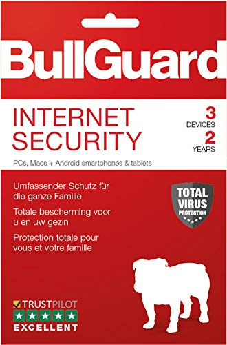 Bullguard Internet Security 2019 - Lizenz für 2 Jahre 3 Geräte! Windows|MacOS|Android [Online Code]