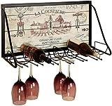 Hermoso botellero de Pared Blacksmith.Porta Botellas de Vidrio Forjado Estilo...