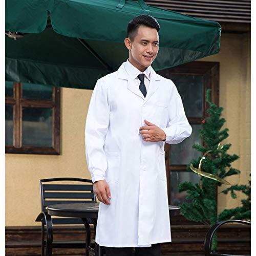 NMYANXU Quelllia Drugstore werkkleding, lange mouwen, voor heren, wit, maat XL, hoogte: 180 cm