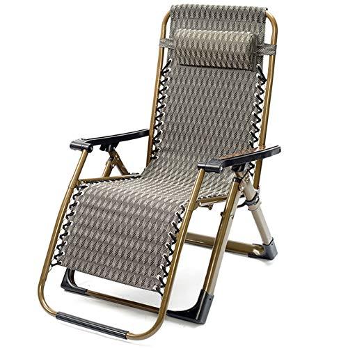 Silla de diseño ergonómico Zero Gravity, sillón para exteriores, sillón reclinable, sillón reclinable para camping con ángulo ajustable, plegable reclinable, salón para exteriores, interiores, hogar