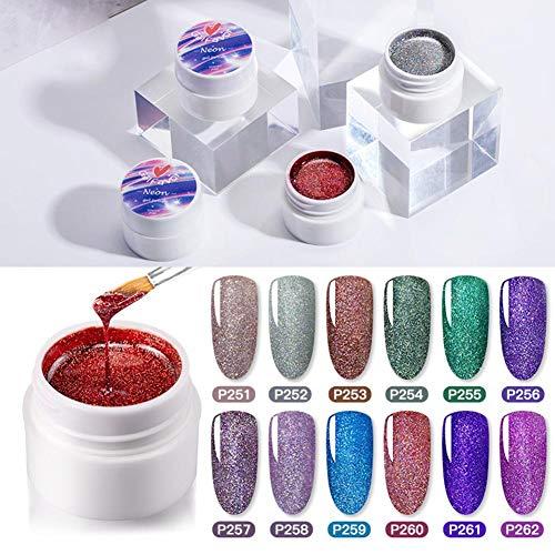 Globqi onderdompelpoeder, nagelkunst, natuurlijke nagels, manicure zonder lamp, holografisch onderdompelpoeder, vloeibare set voor nagellak, dagelijkse verzorging