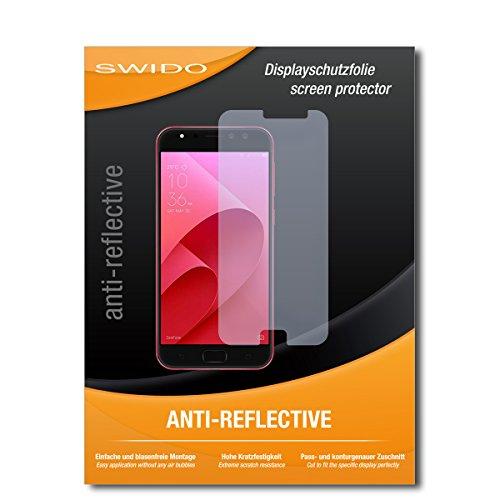 SWIDO Schutzfolie für Asus Zenfone 4 Selfie Pro ZD552KL [2 Stück] Anti-Reflex MATT Entspiegelnd, Hoher Festigkeitgrad, Schutz vor Kratzer/Folie, Bildschirmschutz, Bildschirmschutzfolie, Panzerglas-Folie