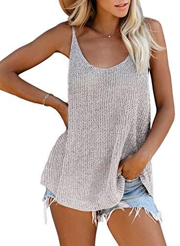 FIYOTE Damen T-Shirt Bluse Blusentop Elegant Hemdbluse V-Ausschnitt Tunika Tops Tank Tops Blusentop Oberteile S
