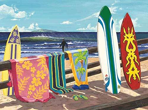HAO DIY 5D Diamantmalerei von Number Kits Seaside Surfboard Paint mit Diamanten Kunst für Erwachsene Full Drill Leinwand Bild für Home Wall Decor 30x40cm