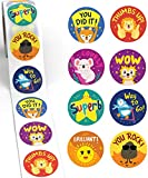 good job stickers for kids - Reward Stickers for Kids by Sweetzer & Orange - 1000 Stickers, 8 Assorted Designs, 1.5 Inch School Stickers - Teacher Supplies for Classroom, Potty Training Stickers and Motivational Stickers