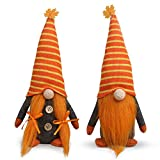 Tifeson Mr and Mrs Fall Gnome Plush Thanksgiving Decorations - 2 Pcs Handmade Swedish Gnomes Plush Elf Scandinavian Autumn Tomte - Thanksgiving Table Ornament, Housewarming Present