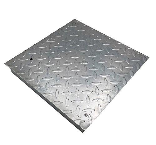 Schachtdeckel verzinkt und verstärkt, Deckel aus Stahlblech, verzinkt, alle Größen 25x25 cm
