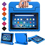 BMOUO Case for Amazon Fire HD 8 2017/2018 (Previous Generation) - Light Weight Shock Proof Convertible Handle Kids Case for Fire HD 8 Tablet (7th and 8th Generation, 2017 and 2018 Release) Blue