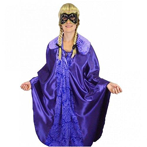 Krause & Sohn Púrpura, un tamaño, máscara del Baile de Disfraces Carnaval de Venecia Carnaval de la Capa del Cabo del Cabo