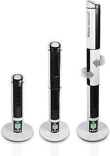 GLAZIAR 3 Ventilador torre 3 en 1. Tres direcciones, 45 W, Plástico, 9 Velocidades, Blanco/negro