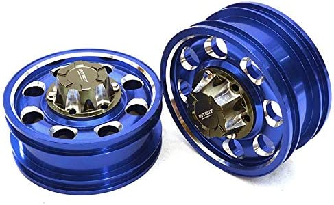Integy RC Model C27021BLUE Billet Alloy for Safety and trust Wheel Front San Francisco Mall Machined