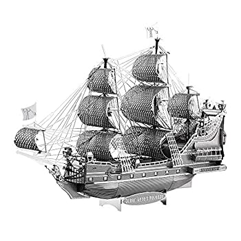 Piececool 3D Metal Model Kits-Pirate Ship DIY 3D Metal Puzzle for Adults Great Birthday Gifts
