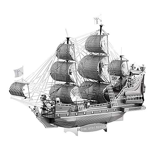 piececool The Queen Anne's Reven - Rompecabezas de metal 3D para adultos, 63 piezas
