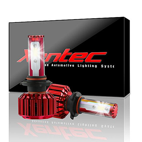 Xentec 9005(HB3/9145/9055) LED Headlight Bulb for any 9005 Halogen Headlight Bulb upgrade to LED (1 pair, Cool White)