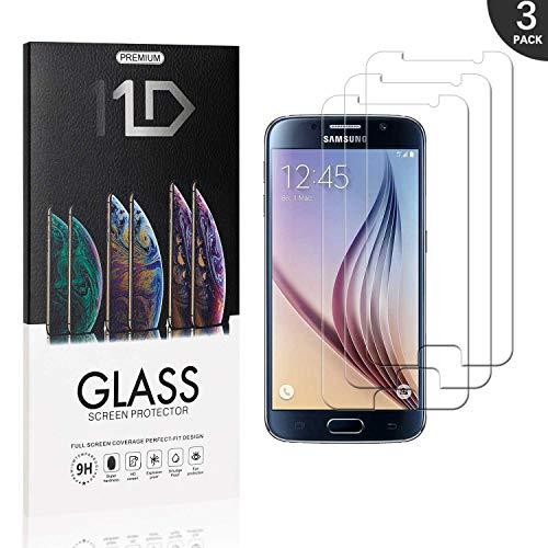 3 Pièces Galaxy S6 Verre Trempé, LAFCH Film Protection d'écran, Écran Protecteur Vitre pour Samsung Galaxy S6, Dureté 9H, sans Bulles,