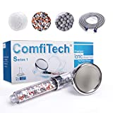 ComfiTech Shower Head, Ionic Shower Head with 2M Shower Hose, Filter Shower Head for Hard Water to Increase Pressure 3 Modes Spray Function Contains Extra Replaceable Filter Beads