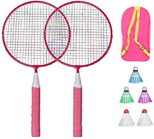 RENFEIYUAN Badminton Set für Kinder mit Schlägern Junior Tennis Racquet Spiel Spiel Strand Spielzeug (Pink) Badminton Sets (Color : Pink)