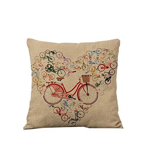 LOPEZ KENT Funda de Almohada Decorativa con Forma de corazón para Bicicleta