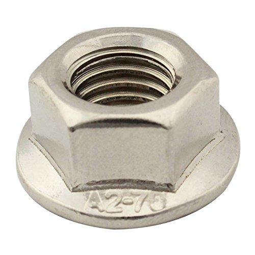 SC-Normteile | 50 Stück Flanschmuttern mit Sperrverzahnung | M6 | Bundmuttern | DIN 6923 / ISO 4161 | rostfreier Edelstahl A2 (V2A) | SC6923