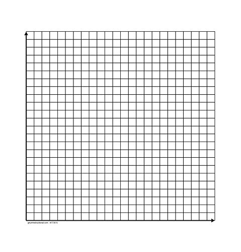 """Geyer Instructional Products 173016 1ST Quadrant Dry Erase Magnet, 20x20-0.75"""" Sqaure"""