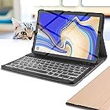 Wineecy Étui avec Clavier pour Tablette Samsung Galaxy Tab rétroéclairé 7 Couleurs Galaxy Tab S4...