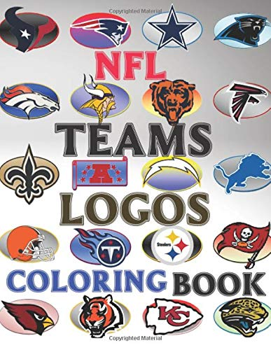 NFL TEAMS LOGOS coloring book: National Football League Colouring Pages for Kids and Adults; Relieve Stress, Express Creativity | Large-print ( 66 Pages, 8.5