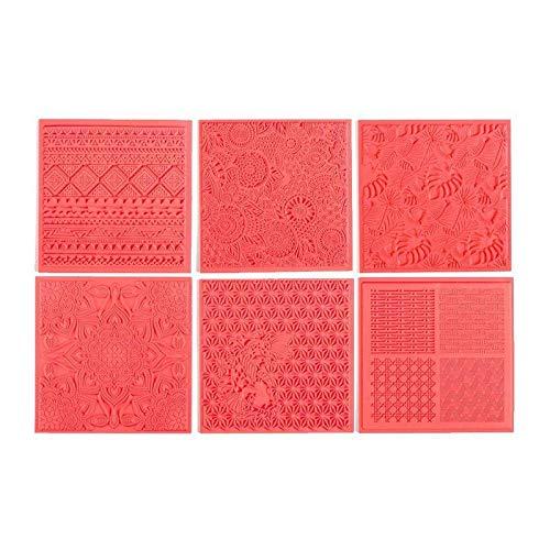 6 Tapis de Texture pour pâte polymère