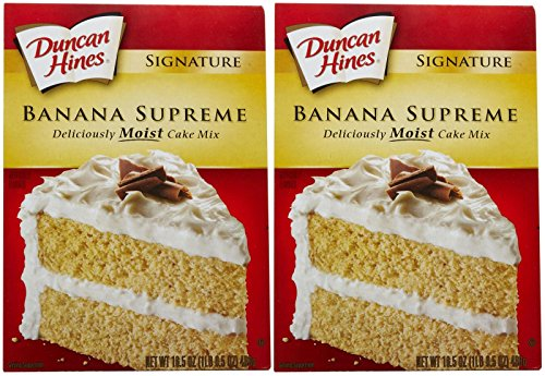 Duncan Hines Signature Moist Cake Mix - Banana Supreme - 16.5 oz - 2 Pack