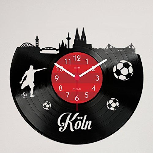 Gravinci.de Schallplatten-Wanduhr Köln Fan