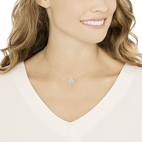 Swarovski Women's Sparkling Dance Round Necklace, Stunning Necklace with Crystals, Rhodium Plated, from the Swarovski Sparkling Dance Collection
