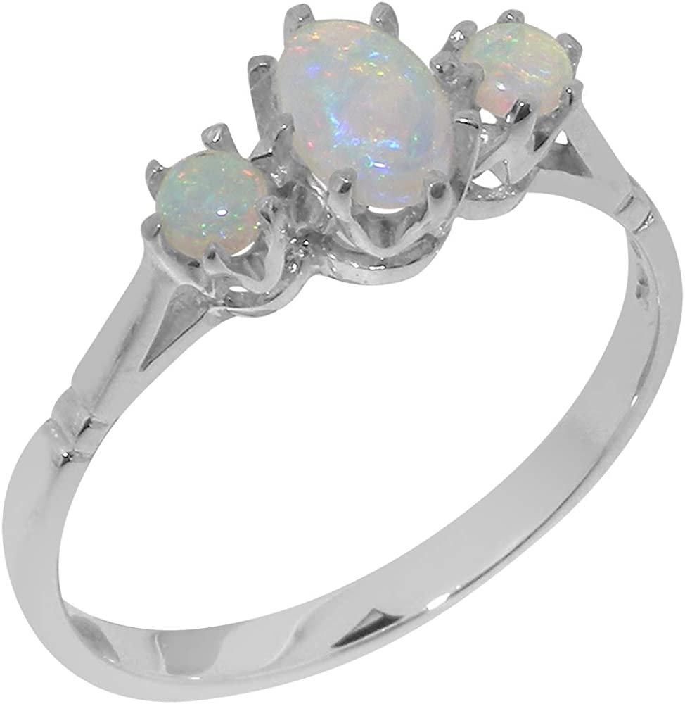 Solid 14k Gold Natural Opal Womens Ring (Yellow, Rose, White Gold options) - Sizes 4 to 12 Available