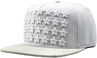 Men's Star Custom Embroidered Patch Flat Bill Caps