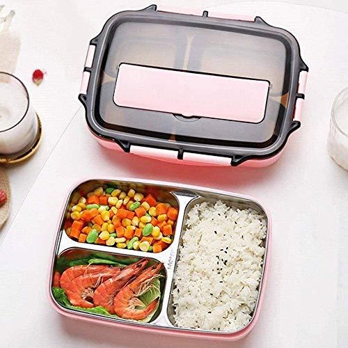 Fiambrera Box lunch for niños y adultos, a prueba de fugas almuerzo recipientes con compartimentos 3/4, chapas de acero inoxidable de grado alimenticio y material de los PP, los palillos con l
