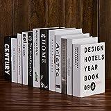 HBBQRS Puntelli Decorativi per modellismo Creativo Libri Finti Moderni Libri di Simulazione Soggiorno Mobili TV Armadietti Complementi d'arredo, 12 Libri